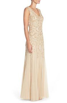 c9de5645e09e Cap Sleeve Floral Lace Dress with Jeweled Neckline S270770