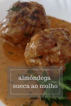 Almôndega sueca com molho delicioso, confira essa receita e se prepare para amar. #receitas