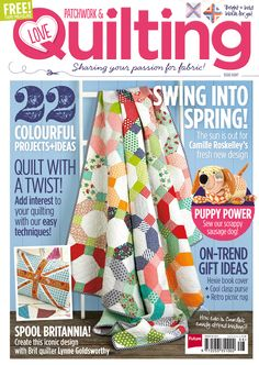 Get your templates for issue 8 here- Love Patchwork & Quilting issue 8 on sale 30th April!