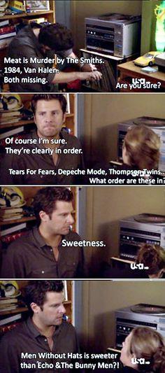 Shawn organizes by sweetness!