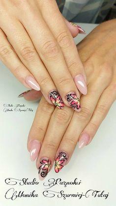 by Monika Szurmiej Tutaj Indigo Young Team  :) Follow us on Pinterest. Find more inspiration at www.indigo-nails.com #nailart #nails #indigo #nude #flower #classy