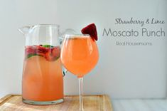 Strawberry-Lime Moscato Punch