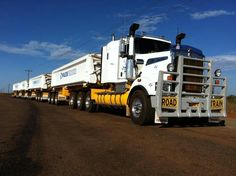 Road train. #trucks #transport #roadtrain - HTXINTL
