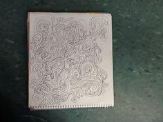 Luisa.   Eu fiz esse desenho por que eu tinha desenhado um rabisco na minha mão e achei legal então desenhei no caderno e depois complementei o desenho