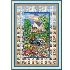 Timeless Treasures Fabrics Sweet Summer Summer Sweetness Throw Quilt Kit Hancocks Of Paducah, Timeless Treasures Fabric, Quilt Kits, Quilt Top, Fabrics, Quilts, Frame, Sweet, Summer