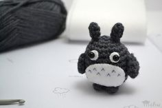 amigurumi Totoro crochet pattern Totoro is so cute and loveable, so of course I had to make an amigurumi version in the same style as the other animals I've been making. Here is a free crochet pattern...