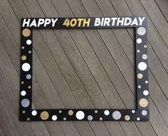 Birthday Photo Frame, Birthday Photo Booths, Birthday Frames, Birthday Photos, Happy 40th Birthday, 40th Birthday Parties, Birthday Party Decorations, Birthday Backdrop, Birthday Celebration