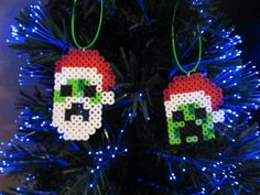 Minecraft Inspired Creeper Christmas Xmas Tree Ornaments by 8BitBeader