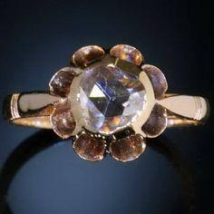 Antique jewelry huge rose cut diamond ring