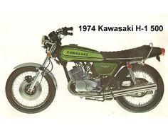 1974 Kawasaki H-1 500  Refrigerator / Tool Box Magnet