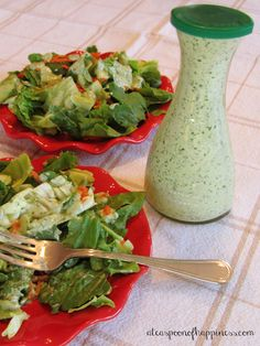 Cilantro Ranch Dressing - A Teaspoon of Happiness