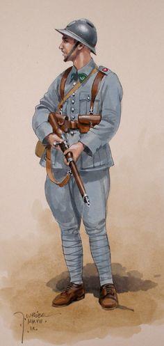 Piechur polski 1918 - pin by Paolo Marzioli Military Art, Military History, Military Personnel, Military Uniforms, Army Gears, Blue Army, War Dogs, Army Uniform, World War One