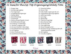 Thirty-One Uses for the Zip-Top Organizing Utility Tote $10 in February!  www.mythirtyone.com/skyse1
