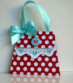 "Super cute ""envelope"" for a girls money gift!!"