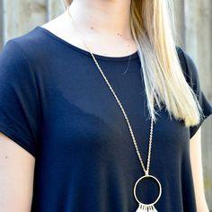 Gold Threaded Tassel Necklace - $15.00