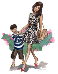New York City based artist Inslee Fariss creates watercolor illustrations for weddings, events, brands and fine art commissions Fashion Sketches, Art Sketches, Art Drawings, Fashion Illustrations, Book Illustrations, Fashion Drawings, Illustration Fashion, Fashion Prints, Fashion Art