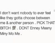 Been through this and I chose for us and for me to be alone now you want me back but you still with her.... lol no.