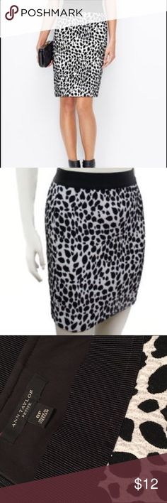 EUC! Ann Taylor Pencil Skirt EUC! Beautiful black and white pencil skirt. Perfect for fall! Work once, just have too many work skirts and need to get rid of some! Ann Taylor Skirts