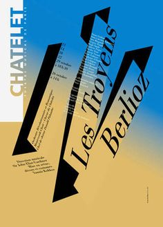 Berlioz: Les Troyens. Poster designed by Rudi Meyer.