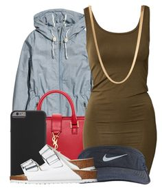 """""""This ugly"""" by ariangrant ❤ liked on Polyvore featuring H&M, Yves Saint Laurent, Case-Mate, mbyM, NIKE, Birkenstock, ASOS and 460"""