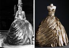 """O vestido dourado de Grace Kelly, a musa de Alfred Hitchcock, em """"Ladrão de Casaca""""."""