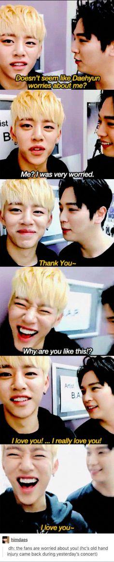 Himdae being overly cute  #bap#funny#yongguk#daehyun#youngjae#jongup#himchan#zelo#kpop#funny