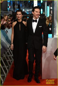 Sophie Hunter and Benedict Cumberbatch at the EE British Academy Film Awards, London, February 8, 2015.