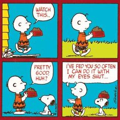 Charlie Brown knows a trick! #Peanuts #CharlieBrown #Snoopy