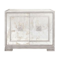 Worlds Away - Antique Mirror and Silver Leaf Two Door Cabinet - OPHELIA S