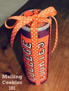 Cute and easy way to MAIL COOKIES to your college kid or anyone... in a Pringles can!