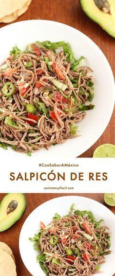 Recipe – About Healthy Meals Meat Recipes, Mexican Food Recipes, Cooking Recipes, Healthy Recipes, I Love Food, Good Food, Yummy Food, Salpicon Recipe, Comida Diy