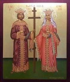 ΑΓΙΑ ΕΛΕΝΗ ΚΑΙ ΑΓΙΟΣ ΚΩΝΣΤΑΝΤΙΝΟΣ!!! ΧΕΙΡ ΖΑΜΠΕΤΑΚΗ ΝΙΚΟΛΑΟΥ. Religious Icons, Orthodox Icons, Kirchen, Byzantine, Catholic, Religion, Princess Zelda, Faith, Christian