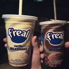 Opposites attract. ;) Enjoy a taste vanilla or chocolate F'Real Milkshake next time you're in town!