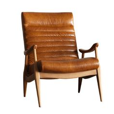 Hans Leather Chair Diy Chair, Chair And Ottoman, Armchair, Design Furniture, Chair Design, Retro Furniture, Brown Lounge, Living Room Designs, Living Spaces