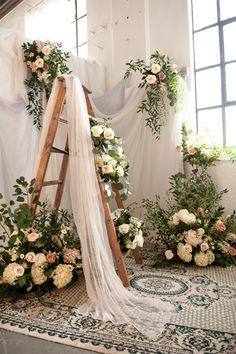 Ladder Wedding, Wedding Stage, Wedding Bride, Wedding Blog, Dream Wedding, Fond Design, Old World Charm, Event Decor, Wedding Decorations