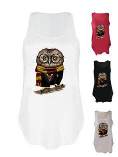 Owl-scarf-print-tank-top-shirt-wizard-vest-singlet-harry-potter-wand-fan-art