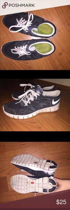 Nikes Very cute nikes. bought from another poshmarker. To small for me. good condition ! Nike Shoes Athletic Shoes