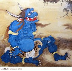 Oni | Oni- Demon or Devil Oni are hideous, gigantic creatures with sharp ...