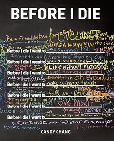 What random want to do before they die