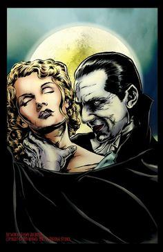 Dracula Colour Comic Art