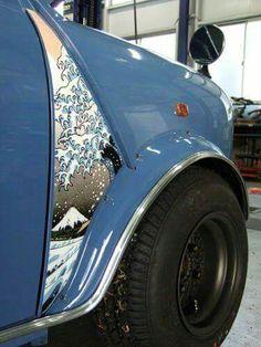 Mini Cooper Classic, Classic Mini, Classic Cars, Mini Morris, Mini Copper, Fukuoka Japan, Car Interior Design, Motor Works, Modified Cars