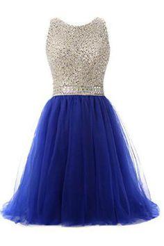 Royal Blue Beaded Top Homecoming Dress, Back To School Dresses ,Short Prom Dress For Teens, Dama Dresses, Dresses Short, Prom Dresses Blue, Cute Dresses, Evening Dresses, Elegant Dresses, Sexy Dresses, Dress Prom, Summer Dresses