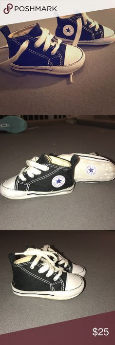 BABY CONVERSE SNEAKERS Size 3 BABY CONVERSE SNEAKERS LITTLE CHUCKS SIZE 3 BLACK N WHITE WORN FOR 10 min ONCE ONLY! CONVERSE Shoes Sneakers