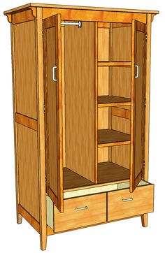 Building a shaker style wardrobe fine woodworking article home ideas bedroom pinterest Build your own bedroom wardrobes