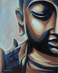 Original Buddha Acrylic Painting Copper and Blue on by DhansonArt Budha Painting, Painting & Drawing, Buddha Zen, Buddha Face, Drawings Pinterest, Deco Zen, Oil Painting Pictures, Art Asiatique, Elephant Art