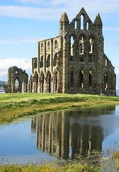 Whitby Abbey, Yorkshire, England - we climbed all x00 steps to get here! (after our mushy peas lunch)