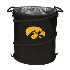 University of Iowa Hawkeyes Collapsible Trash Can Cooler