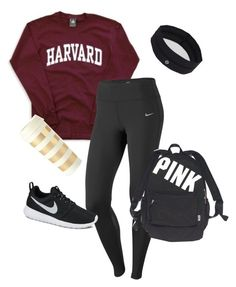 """""""lazy college student"""" by melissakelleyy ❤ liked on Polyvore featuring NIKE, Kate Spade, lululemon and Victoria's Secret"""