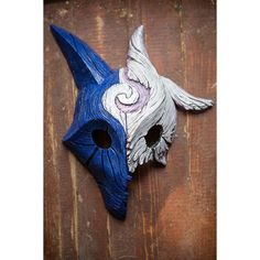 inspired Kindred Wolf-Lamb MIXED Mask League of Legends Lol cosplay ❤ liked on Polyvore featuring costumes, wolf costume, cosplay halloween costumes, cosplay costumes, wolf halloween costume and role play costumes