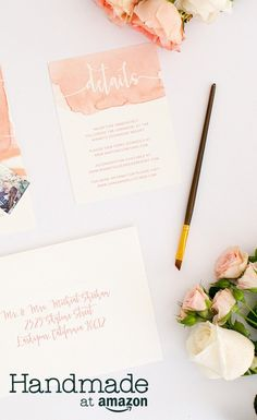 Make it your own with artisan-created wedding decorations and supplies from Handmade at Amazon.